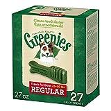 GREENIES Dental Dog Treats, Regular, Original Flavor, 27 Treats, 27 oz.