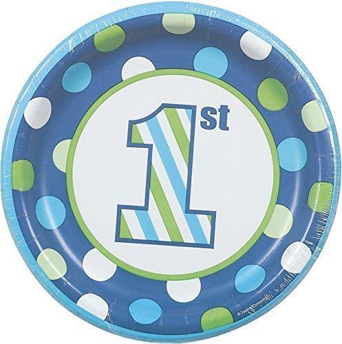 Boy Cake Plates (Sweet Stripes Boy 1st Birthday 7