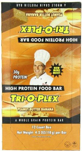 Tri-O-Plex High Protein Food Bar, Peanut butter Banana, 4.2