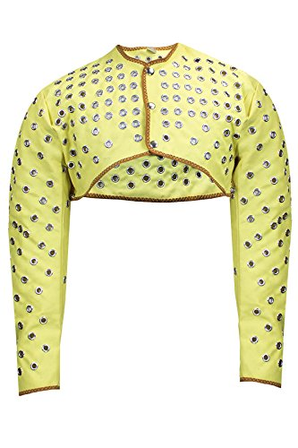 National Safety Apparel C32KV001LG Eyeleted Half-Jacket Made with Kevlar Twill, Large, Yellow by National Safety Apparel Inc