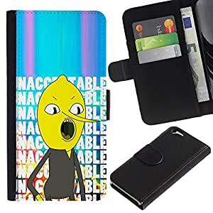 KingStore / Leather Etui en cuir / Apple Iphone 6 / Comic Character