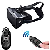 GOTD 2016 New Version 3.0 3D VR Virtual Reality Headset 3D VR Glasses with NFC for 4~6 inch Smartphones for 3D Movies/Games,with adjustable focal/pupil distance,Bluetooth Controller included