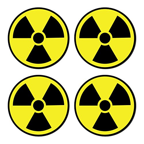 Warning Decal Set (Sutter Signs Nuclear Radiation Warning Symbol Stickers - Individually Die-Cut - 3-inch Diameter (Pack of 4 Decals))