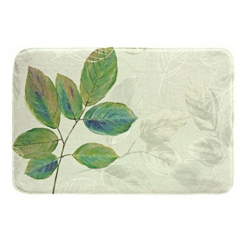 Bacova Guild Memory Foam Bath Rug, Waterfalls - Rug Print Leaf