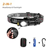 Derlson LED Headlamp,Headlight & Flashlight with a Protection case,Battery Powered Helmet Light for Camping, Hiking,Running, Dog Walking and Reading [ Waterproof,Shockproof, 100 Lumen ]