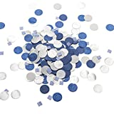 Ling's Moment Table Confetti, 100g/4Oz Party Confetti Assorted, Navy Blue Round Tissue Paper Table Confetti, Square Glitter Confetti,for Boy Birthday Party Baby Shower, Events & Parties Decor