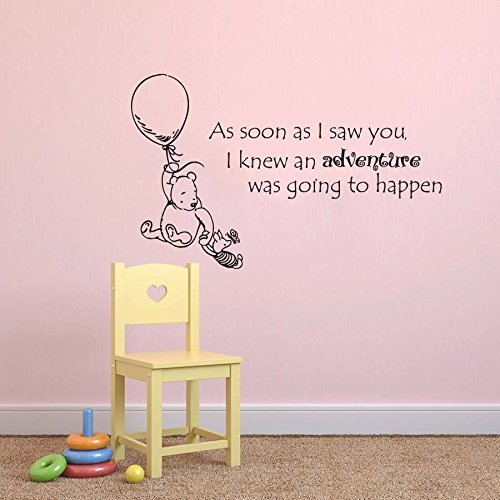 baby sprüche englisch Wall Decals Quotes Winnie the Pooh Quote   As soon as I saw you I  baby sprüche englisch