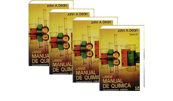 Lange Manual De Quimica 4 T John Dean Amazon Com Books