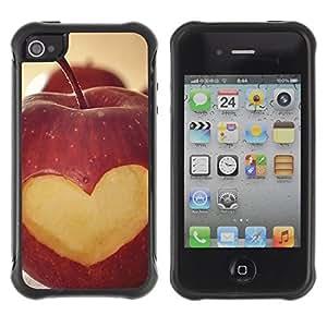 iArmor Hybrid Anti-Shock Defend Case / Fruit Macro Apple Heart Lowe / Apple iPhone 6 4.7
