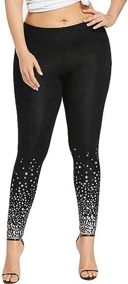 VJGOAL Mujeres Tallas Grandes Casual Moda Cintura Alta Pantalones ...