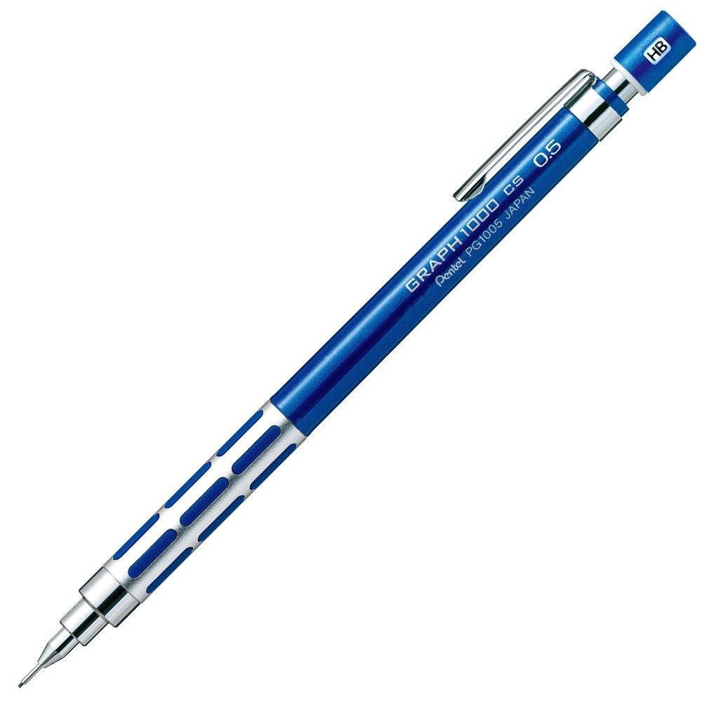 Portaminas 0.5mm Pentel GRAPH1000 Blue japan Import
