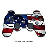 Skin Stickers for Playstation 3 Controller – Vinyl High Gloss Sticker for DualShock 3 Wireless Game PS3 Controllers – Protectors Controller Decal – Stars N Stripes [ Controller Not Included ]