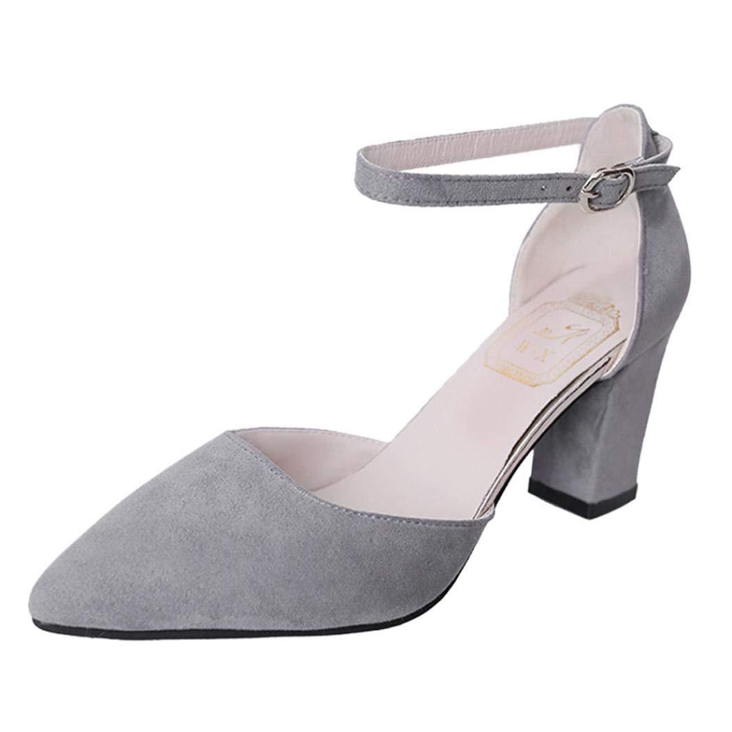 Sandalias mujer verano 2018, Covermason Las mujeres flotan en el tobillo con zapatos de tacón Zapatos de fiesta: Amazon.es: Ropa y accesorios