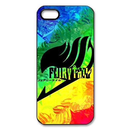 iPhone 5/iPhone 5S Case Custodia, iPhone 5S Cover Hard Case Cover, Iphone 5 Case, Fairy Tail Design iphone 5s Case, iPhone 5 5S Custodia Cover Case (bianco/nero)