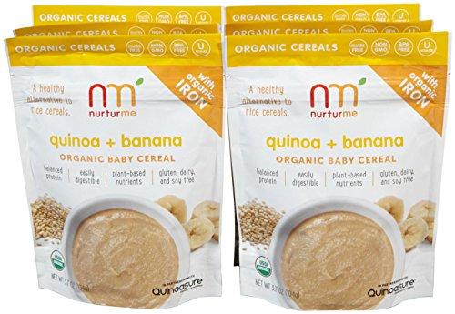 NurturMe Baby Cereal-Quinoa and Banana-3.7 Ounces-6 Pack