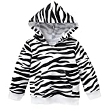 Toddler Girl's Fleece Tunic Sweatshirt Hoodie Size 2T - Zebra Print