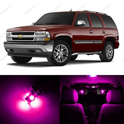 SAWE   Premium LED Light Interior Package For Chevrolet Chevy Tahoe 2000    2006 (10 Pieces) (Pink/Purple)