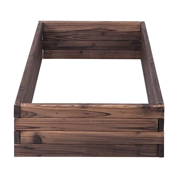 Giantex Raised Garden Bed Wood Outdoor Patio Vegetable Flower Rectangular Planter 8 🌻〖Ample Room for Planting〗- The overall dimension is 47''x24''x9''(LXWXH). This garden bed provides sufficient space for various plants growth like flowers or vegetables. Rectangular form bed which is easy and convenient for you to look after plants well inside it. 🌻〖Simple Assembling Work〗- Screws and assembly manual are included. Accurate and detailed assembling steps are presented in graphic form which is clear and easy to understand. 🌻〖Stable and Long-lasting Frame〗- This garden be is constructed with environmental friendly fir wood that is durable and stable enough to make plants grow healthily.