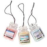 yankee air freshener - Yankee Candle Car Jar Ultimate Hanging Air Freshener 3-Pack (Beach Walk, Pink Sands, and Sun & Sand)