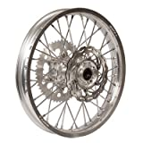 Warp 9 Complete Wheel Kit - Rear 19 x 2.15 Silver Rim/Silver Hub/Silver Spokes and Nipples for KTM 525 SX 4-Stroke 2003-2006