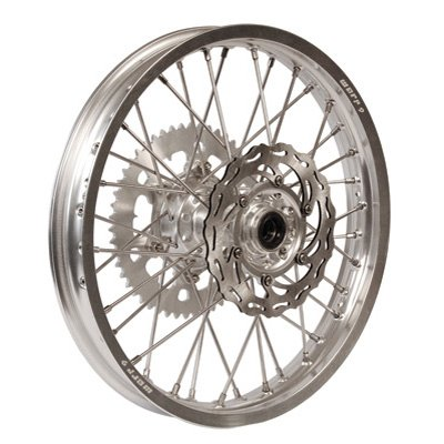 Warp 9 Complete Wheel Kit - Rear 18 x 2.15 Silver Rim/Silver Hub/Silver Spokes and Nipples for KTM 300 XC-W 2006-2007 by Warp 9