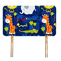 Ready Steady Bed Jungle Fever Animals Design Children's Single Headboard 3ft Bed Size Foam Upholstered