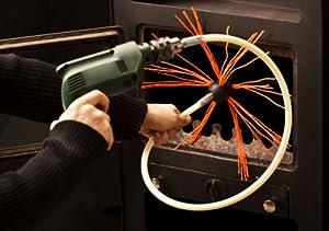 Hansa Rotary Chimney And Flue Sweeping Kit With Brush Flex Nylon Rods 6 Amazon Co