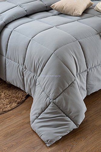 Super Oversized - Down Alternative Comforter - Fits Pillow Top Beds - Queen 92'' x 96'' - Gray - Exclusively by BlowOut Bedding RN #142035 by Web Linens Inc (Image #7)
