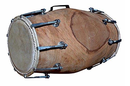 Handmade Sheesham Wood Dholak Indian Folk Musical Instrument Drum Nuts N Bolt by SAI MUSICAL