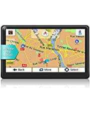 GPS Navigation for Car Truck 7 Inch Touchscreen 8G 256M Navigation System Voice Guidance and Speed Camera Warning Lifetime Map Update 2021 Latest Maps (Balck-A)