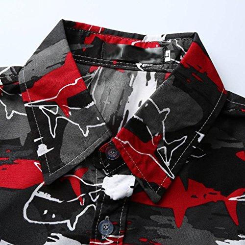 africana grandi lunghe Maglietta Aimee7 da dimensioni stampata Maglietta con casual casual da maniche maniche uomo Multicolor1 di Maglietta uomo a corte pq1CxX