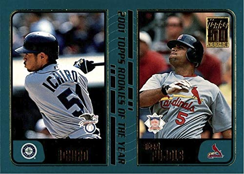- 2001 Topps Traded & Rookies - ICHIRO Suzuki & Albert Pujols - Seattle Mariners Baseball Rookie Card RC #T99