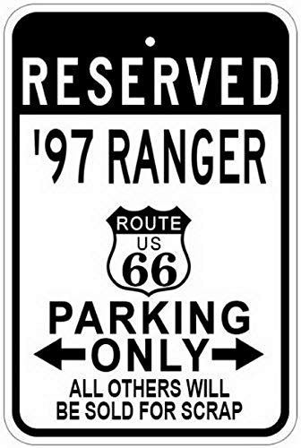 MariaP Metal Signs 1997 97 Ford Ranger Route 66 Aluminum Parking Sign - 12 X 16 ()
