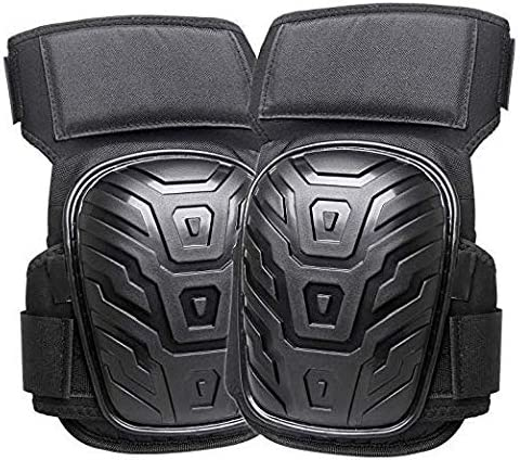 AOOPOO Professional Knee Pads for Work Flooring Super Comportable Heavy Duty Gel Cushion and Foam Padding Knee Pads with Anti-Slip Straps and Adjustable Easy-Fix Clips for Men Gardening Women