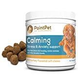 Anxiety & Stress Relief for Dogs, Soft Chewable Calming Aid to Help Your Dog with Separation & Social Anxiety, Travel & Motion Sickness, Fireworks, Thunderstorms - Calm Relaxation Supplement 60 Chews