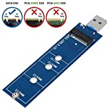 SHINESTAR M.2 SSD to USB, M2 to USB 3.0 Adapter ( No Cable Needed), NGFF SATA Based Key B Solid State Drive Converter Work as Portable Flash Drive / External Hard Drive, Support 2230 2242 2260 2280