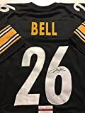 Autographed/Signed Le'Veon LeVeon Bell Pittsburgh Steelers Black Jersey JSA COA