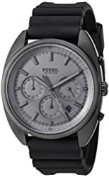 Fossil Men's Quartz Stainless Steel and Silicone Casual Watch, Color:Black (Model: CH3046)