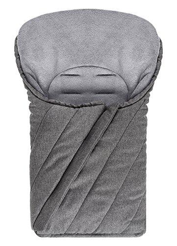 Universal Baby-Fußsack / Winterfußsack für Babyschale & Auto-Kindersitz / mit weichem Deluxe-Thermo-Fleece / Melange Grau