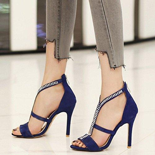 blue Sandales Coolcept Coolcept Femmes Femmes Aiguille Aiguille qxSvZU