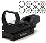 RioRand Tactical 4 Reticle Red Dot Open Reflex Sight with Weaver-Picatinny Rail Mount for 22mm