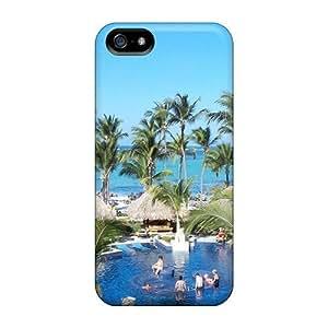 Excellent Iphone 5/5s Case Tpu Cover Back Skin Protector Beach Resort Holiday WANGJING JINDA