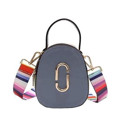 377844ff3131 Amazon.com: LANGUANGLIN Trend Color Contrast Wide Shoulder Strap ...