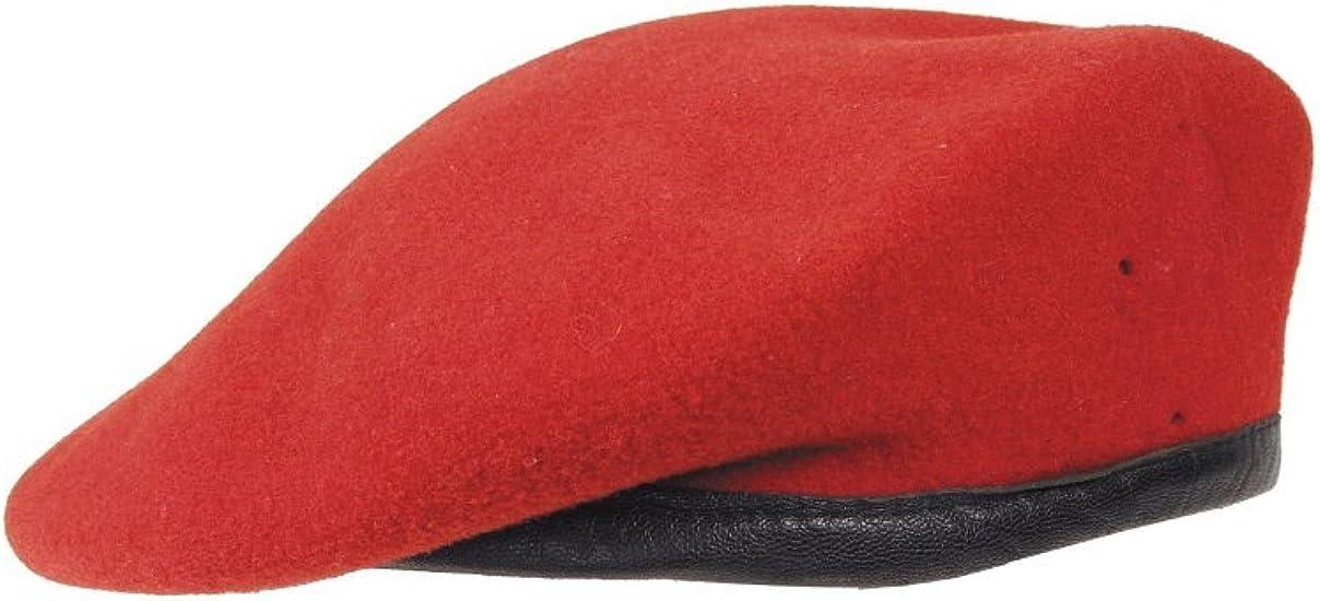 Militär a Boina del ejército alemán (producto de segunda mano), color rojo: Amazon.es: Deportes y aire libre