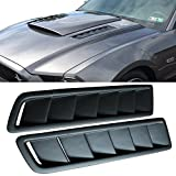 01 ford mustang hood - Universal Fitment Air Flow Hood Vent Scoop Bonnet Cover 2PC 20X12CM - PP by IKON MOTORSPORTS