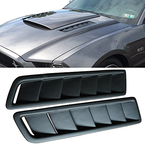 Universal Fitment Air Flow Hood Vent Scoop Bonnet Cover 2PC 20X12CM - PP by IKON (Miata Hood)