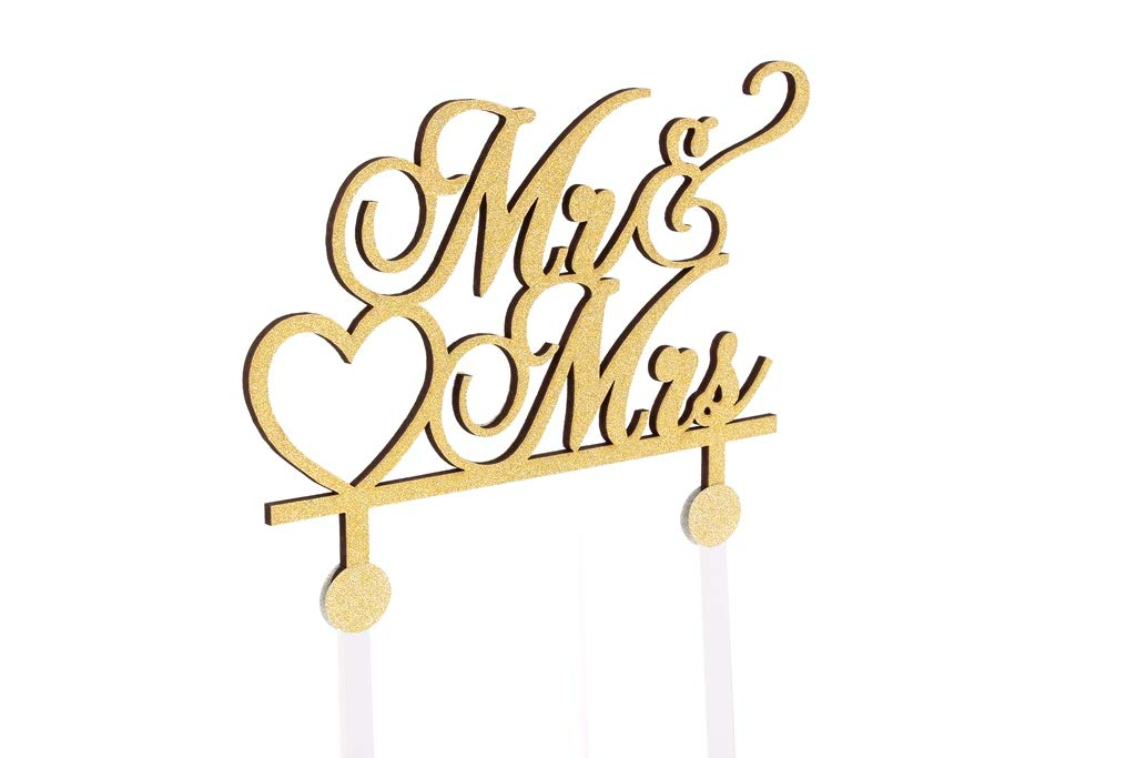 ONE Birthday Cake Topper Customize Wedding Cake Topper Golden Glitter Cake Topper with Acrylic Stake Cake Decoration