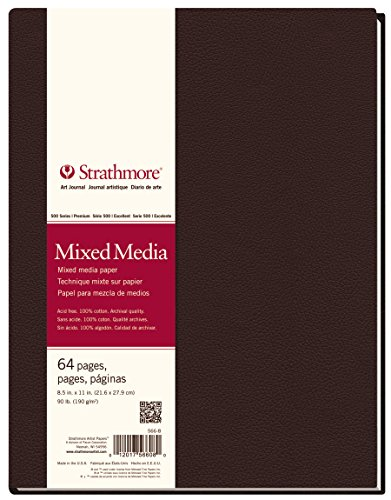 "Strathmore 566-8 500 Series Hardbound Mixed Media Art Journal, 8.5""x11"" 32 Sheets"