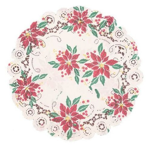 Fox Run 12-Inch Paper Christmas Doilies, Package of