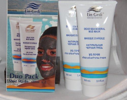 Ein Gedi Dead Sea Cosmetics Duo Pack Mud Masks -100ml - Gedi Ein Dead Sea